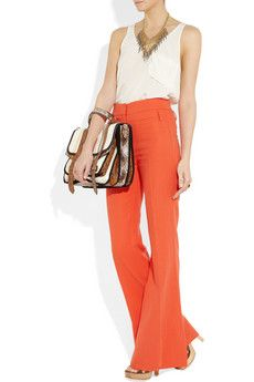 Vanessa Bruno linen & cotton flared pant. Very cute!