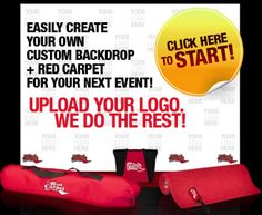 Create A Red Carpet for your party today! Red Carpet Theme Party, Carpet Stores, School Dances, For Your Party, Bar Mitzvah, Fundraising, Party Time, Backdrops, Recital