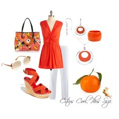 Citrus Cool, Plus SIze, created by redheaded-diva on Polyvore