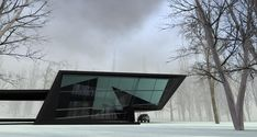 House in the woods by Steep Studio – What do you think? What other projects do you associate with it? Folding Architecture, Modern Architecture Design, Space Architecture, Residential Architecture, Modern Design, Roof Design, House Design, Forest House, House In The Woods