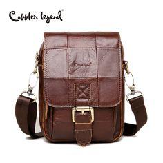 c7e4bd5069 Cobbler Legend Fashion Brand 2016 New Men s Vintage Genuine Leather Messenger  Bag Men Male Cowhide Shoulder