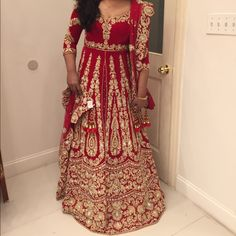 Spotted while shopping on Poshmark: MUST GO ! Please help share. Indian bridal gown! #poshmark #fashion #shopping #style #Dresses & Skirts