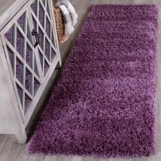Safavieh Reno Deacon Solid Shag Area Rug or Runner, Purple Purple Area Rugs, Navy Blue Area Rug, White Area Rug, Beige Area Rugs, Purple Carpet, Gray Carpet, Polyester Rugs, Textured Carpet, Modern