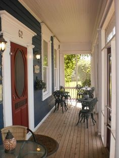 but I love the blue siding! Porch Gazebo, Screened Porches, Outdoor Rooms, Outdoor Living, Outdoor Decor, Antique Booth Design, Blue Siding, Taylors, Outdoor Landscaping