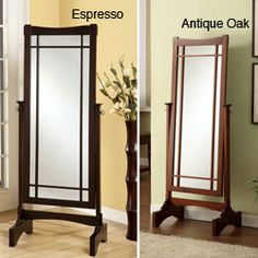 @Overstock - This contemporary full-length design mirror adjusts to the ideal angle for any individual's needs. This mirror has wonderful solid wood construction, smooth swivel function and two choices of color finish.http://www.overstock.com/Home-Garden/Modern-Contemporary-Swivel-Mirror/6605219/product.html?CID=214117 $191.99