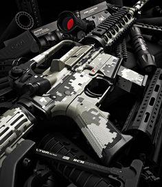 youareclearedhot-over: Duracoated AR-15 (via TumbleOn)