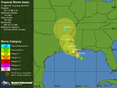 Tropical Storm Isaac : Tracking Map | Weather Underground    Aug 28, 2012