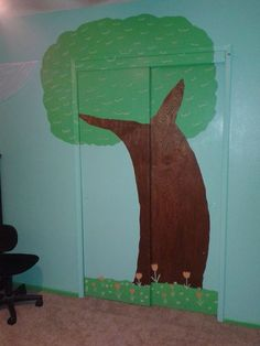 my closet mural project for the nursery!