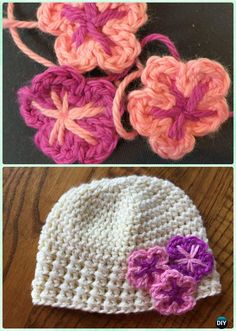 DIY Crochet Newborn Holland Hat Free Pattern Instruction- #Crochet Beanie Hat Free Patterns
