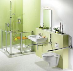 I like this concept...think of wheelchair or stroke ridden individuals.  Plus, there are bars on both sides of the toilet.