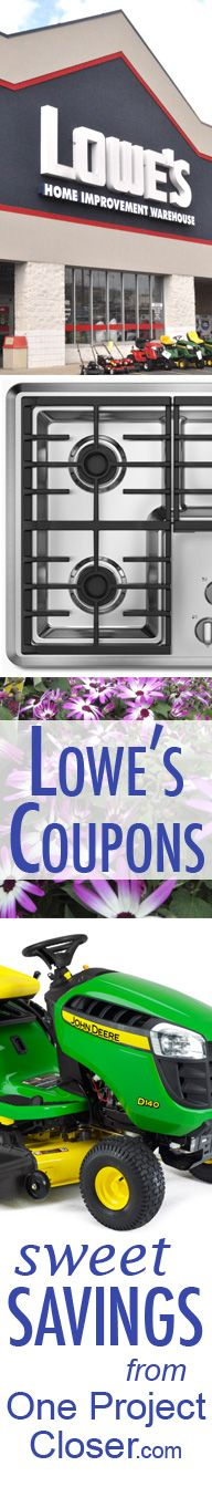 Lowes Coupons! Kept up to date weekly and great for those summer needs like patio furniture, lawn care, appliances, grills, and more!