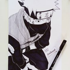 Kakashi Hatake ✏✌💥 Done 😁✒ This drawing gave me a bit of work ahaha 😁 but I liked the effects I learned to do with the ink! what do you think? I hope you like it 😆❤ . . #kakashi #kakashihatake #naruto #narutoshinobi #narutobakakun #nbkdrawing #sharingan #sasuke #instaart #mangaart #mangaka #lineart #artline #art #animearttr #animeartshelp #animedrawing #drawings #desenh4ndo #illustration #leandroxs_11k