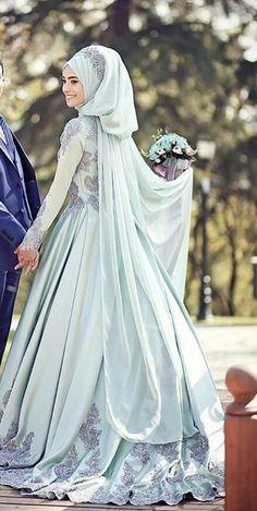 Wedding dress Muslim Wedding Gown, Muslimah Wedding Dress, Muslim Wedding Dresses, Muslim Brides, Bridal Wedding Dresses, Muslim Women, Islamic Fashion, Muslim Fashion, Modest Fashion