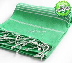 Cacala Peshtemal - Green - http://turkishbox.com/product/cacala-peshtemal-green/  #turkishtowels #peshtemals #turkishproducts