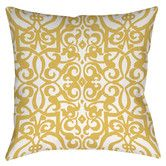 Found it at Wayfair - Bold in Blue Scroll Printed Polyester Throw Pillow