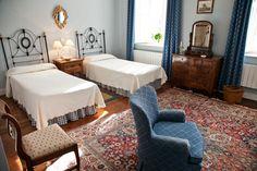 Habitación azul. Hotel Casona El Arral