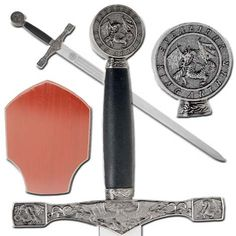 Bright King Arthur's Excalibur Decortive Sword With Wall Plaque Exquisite Craftsmanship; Knives, Swords & Blades Collectibles