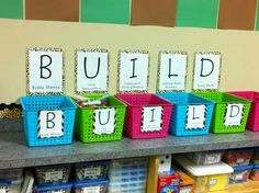 BUILD Math Stations- no doubt about it. this is what I am doing for math stations. I have been looking for something new for common core. Definitely tweaking this for kindergarten Math Classroom, Kindergarten Math, Teaching Math, Classroom Ideas, Preschool, Future Classroom, Teaching Ideas, Classroom Routines, Guided Maths