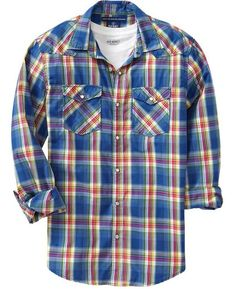 d398ac3b562 Old Navy Plaid Shirt... ORANGE. Jamaal Mac · Men s Fashionable Fashion ♤