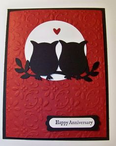 Good Evening Friends, Tonight I cased a card I seen on line the other day, I had to make a anniversary card and this one was quick and simple! Stamp Set: Teeny Tiny Wishes Card Stock: Basic Black, Cherry Cobbler...