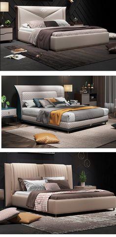 Luxury Bedroom Design, Bedroom Bed Design, Bedroom Furniture Design, Bed Furniture, Home Bedroom, Master Bedroom, Double Bed Designs, Best Bed Designs, Bed Headboard Design