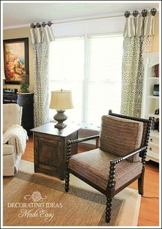 new curtains, home decor, living room ideas, reupholster, window treatments