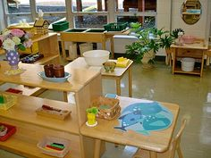 The Brilliant Child: Practical Life  - wonderful picture examples of how to set up a montessori based learning environment! This lady is so mindful and detailed, amazing!