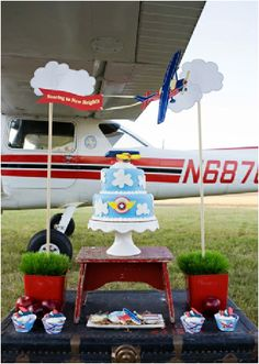 Little aviator airplane birthday party ideas