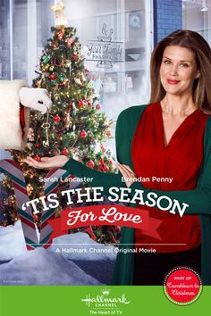 Its a Wonderful Movie - Your Guide to Family Movies on TV: Hallmark Christmas Movie 'Tis The Season For Love' starring Sarah Lancaster: Hallmark Holiday Movies, Hallmark Weihnachtsfilme, Xmas Movies, Hallmark Channel, Family Movies, Great Movies, Sarah Lancaster, High School Musical, Love Movie