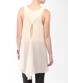 Cutout High-Low Tunic Tank | FOREVER21 - 2000044401