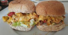 Hawaiian Cheese Sliders by HUngry Hubby and Family Family Recipes, Family Meals, Chicken Sliders, Hawaiian Chicken, Salmon Burgers, Lunches, Sandwiches, Lunch Box, Cheese