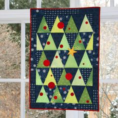 Perfect for Holiday decorations! This quilt is easy and fast to make especially if you have the AccuQuilt GO! dies.