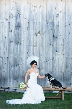 Wedding gowns and bridal fashions for a rustic chic wedding at the Historic Barns of Nipmoose. Tracey Buyce Photography
