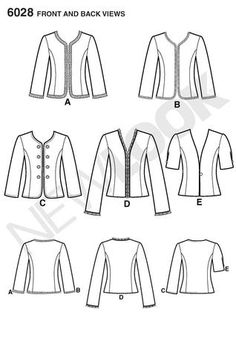 New Look 6028 from New Look patterns is a Misses' Jackets sewing pattern