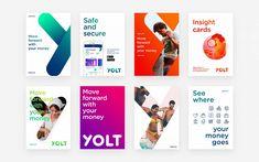 Yolt by ING — Alessandro Giua — Art director — Designer — Digital — Br. Yolt by ING - Alessandro G Corporate Identity Design, Bank Branding, Brand Identity Design, Visual Identity, Branding Design, What Is Fashion Designing, Design Digital, Web Design, Composition Design