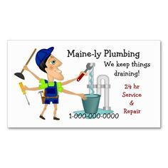 Waterfall Business Cards Plumbing Card Templates Pinterest And Waterfalls