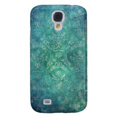 Vintage Blue Damask  Galaxy S4 Covers