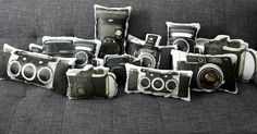 Vintage Rolleiflex Camera Printed Pillow by intheseam on Etsy