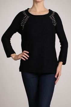 Kiki La'Rue - Bejeweled Sweater - Black , $47.99 (http://www.kikilarue.com/bejeweled-sweater-black/)