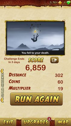 I got 6859 points while escaping from a Giant Demon Monkey. Beat that! http://bitly.com/TempleRun2iOS