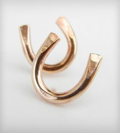 Rose Gold Horseshoe Stud Earrings Jewelry