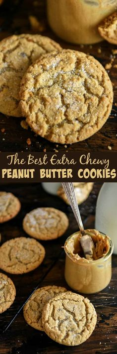 Best Comfort Foods The Best Chewy Peanu Food & Drink Healthy Snacks Nutrition Cocktail Recipes The Best Chewy Peanut Butter Cookies with super soft centers in just 30 minutes! Easy Cookie Recipes, Cookie Desserts, Just Desserts, Baking Recipes, Sweet Recipes, Delicious Desserts, Dessert Recipes, Health Desserts, Cookie Bars