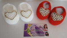 Sapatinhos em crochê www.facebook.com/mfmuzambinho