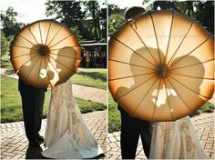 Un-frilly wedding parasols for maids in the shade   Offbeat Bride