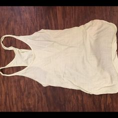 Lululemon striped tank top Lululemon pink and green striped tank, size 4 lululemon athletica Tops Tank Tops