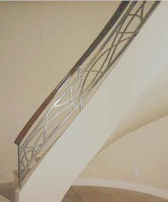 Wrought Iron Staircase 4  Like this design for Great Room