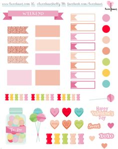 Sweet Valentine Freebie sized for the Erin Condren hourly. #ECLP