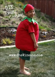 Easy DIY tomato costume  www.TheWine{a}be.com