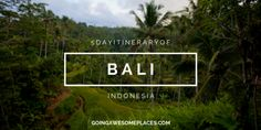 """According to Will from Going Awesome Places, Bali was """"one of the most special and magical places"""" he has ever been. Don't miss out on all that Bali has to offer with his 5 day itinerary."""