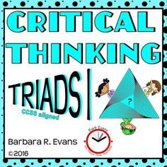 Triads are perfect for promoting critical thinking and developing word relationships.  Kiddos beg to do these.